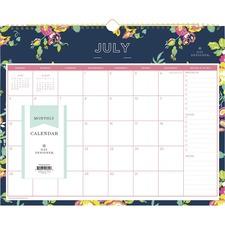 BLS 107934 Blue Sky Peyton Navy Floral Wall Calendar BLS107934