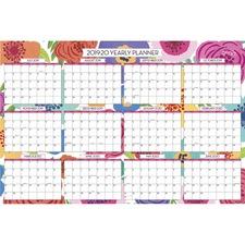BLS 108253 Blue Sky Mahalo Floral Laminated Wall Calendar BLS108253