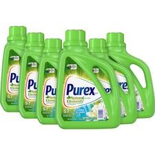 Purex Natural Elements Liquid Detergent - Liquid - 75 fl oz (2.3 quart) - Linen, Lilies Scent - 6 / Carton - Blue