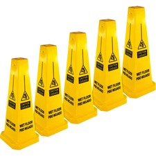 GJO 58880CT Genuine Joe Bright 4-sided CAUTION Safety Cone GJO58880CT