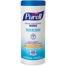 GOJ 911104ECCT GOJO PURELL Hand Sanitizing Wipes Canister GOJ911104ECCT