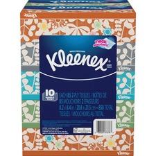 KCC 37378CT Kimberly-Clark Kleenex Tissues Flat Box Bundle KCC37378CT