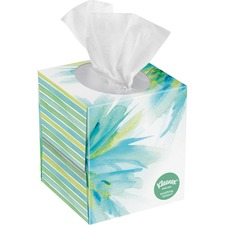 "Kleenex Soothing Lotion Tissues - 3 Ply - 8.2"" x 8.4"" - White - Soft - For Home, Office, School - 65 Per Box - 1 Box"
