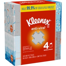 KCC 50682 Kimberly-Clark Kleenex Anti-Viral Facial Tissues KCC50682