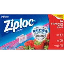 SJN 662102 SC Johnson Ziploc Slider Quart Storage Bags SJN662102