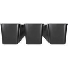 SPR 02160CT Sparco 28-quart Rectangular Wastebasket SPR02160CT
