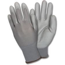 SZN GNPUXL4GY Safety Zone Poly Coated Knit Gloves SZNGNPUXL4GY
