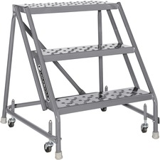 DAD GSW2403 Louisville Ladders 3-step Steel Warehouse Ladder DADGSW2403
