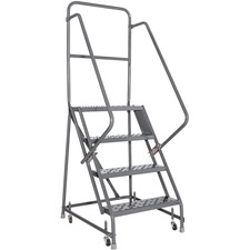 DAD GSW2404W03 Louisville Ladders 4-step Steel Warehouse Ladder DADGSW2404W03