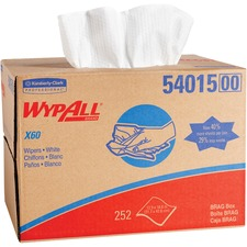 KCC 54015 Kimberly-Clark WypAll X60 Cloths Brag Box KCC54015