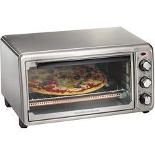 Hamilton Beach Stainless Steel 6 Slice Toaster Oven - 1440 W - Toast, Bake, Broil, Keep Warm - Stainless Steel