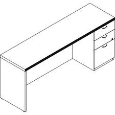 LAS71KS2072UFW - Lacasse Right Single Pedestal Credenza