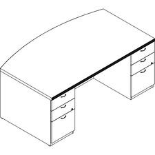 LAS71KUF4272UAE - Lacasse Double Pedestal Bow Front Desk
