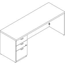 LAS71KUF2072SC - Lacasse Left Single Pedestal Credenza