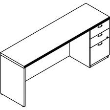 LAS72DS2072UFX - Groupe Lacasse Concept 70 Right Single Pedestal Credenza