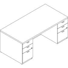 LAS71KUF3672UFW - Lacasse Double Pedestal Desk