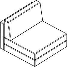 AROCU302TP04 - Arold Armless Chair