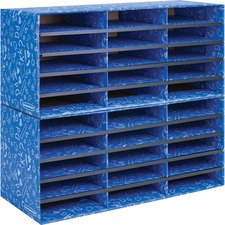 """Bankers Box Bankers Box Classroom 30 Compartment Literature Sorter, 1pk - External Dimensions: 28.5"""" Width x 12.4"""" Depth x 12.8"""" Height - Blue - For Classroom Supplies, Storage - Recycled - 1 Pack"""
