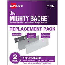 AVE 71202 Avery Mighty Badge Magnetic Name Tag Replacements AVE71202