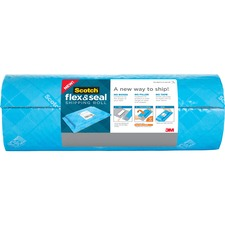 """Scotch Flex & Seal Shipping Roll - 15"""" Width x 20 ft Length - Durable, Water Resistant, Tear Resistant, Cushioned, Recyclable - Blue"""