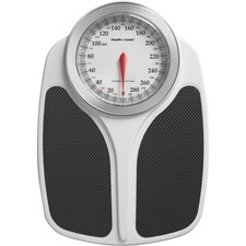 Health o Meter Mechanical Medical Scale - 400 lb - Black, White