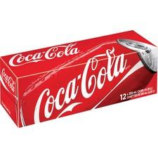 Coke Original Cola Soft Drink - Ready-to-Drink - Cola Flavor - 4.26 L - 12 / Carton / Can
