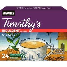 Timothy's Chai Latte Tea K-Cup - Chai Latte - Pod - 24 / Box