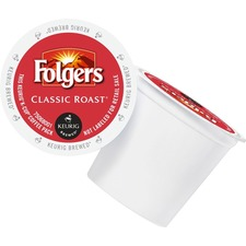 Folger Classic Roast Coffee K-Cup - Compatible with Keurig K-Cup Brewer - Caffeinated - Classic, Mountain Grown - Medium - Per Pod - 24 / Box