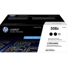 HP 508X (CF360XD) Toner Cartridge - Black - Laser - High Yield - 12500 Pages - 2 / Each