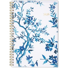"""At-A-Glance Cambridge Elle Customizable Weekly-Monthly Medium Planner - Medium Size - Julian Dates - Weekly, Monthly - 1 Year - January 2020 till December 2020 - 1 Week, 1 Month Double Page Layout - 5 1/2"""" x 8 1/2"""" Sheet Size - Twin Wire - 8.5"""" Height x 6"""