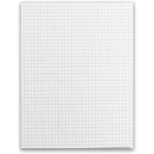 """Offix White Paper Pad - Quad Ruled - 8 1/2"""" x 11"""" - White Paper - 5 / Pack"""