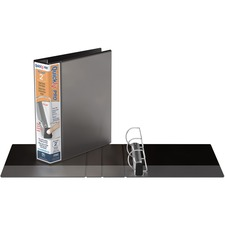 """QuickFit PRO Single Touch View Binder - 2"""" Binder Capacity - Letter - 8 1/2"""" x 11"""" Sheet Size - 500 Sheet Capacity - D-Ring Fastener(s) - Inside Front & Back Pocket(s) - Polypropylene - Black - Recycled - Space Saving, Antimicrobial, Open and Closed Triggers, Gap-free Ring, Locking Ring, Heavy Duty, Ink-transfer Resistant, Clear Overlay, Hinged, Non-stick, Long Lasting - 1 Each"""