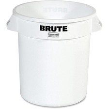 RCP 261000WH Rubbermaid Comm. Brute Round 10-gal Container RCP261000WH
