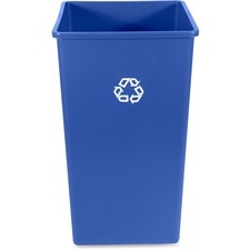 RCP 395973BE Rubbermaid Comm. 50-gal Square Recycling Container RCP395973BE