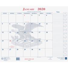 UCR 6649510 Unicor Fed Blotter Style Calendar Pad UCR6649510