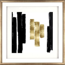 LLR 04476 Lorell Blocks Design Framed Abstract Artwork LLR04476