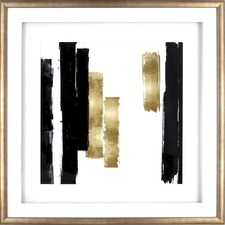 LLR 04477 Lorell Blocks Design Framed Abstract Artwork LLR04477