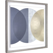 LLR 04474 Lorell Circle Design Framed Abstract Art LLR04474