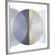 LLR 04475 Lorell Circle Design Framed Abstract Art LLR04475