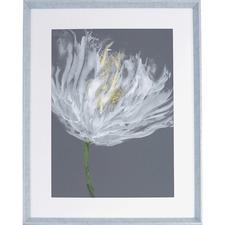 LLR 04478 Lorell White Flower Design Framed Abstract Art LLR04478