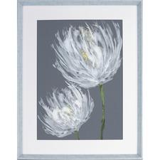 LLR 04479 Lorell White Flower Design Framed Abstract Art LLR04479