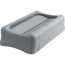RCP 267360GY Rubbermaid Comm. Slim Jim Container Swing Lid RCP267360GY