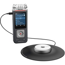 Philips DVT8110 VoiceTracer Digital Recorder - 8 GBmicroSD Supported - MP3 - Headphone - 2112 HourspeaceRecording Time