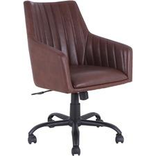 LLR 68573 Lorell Leather Back Stitch Chair LLR68573