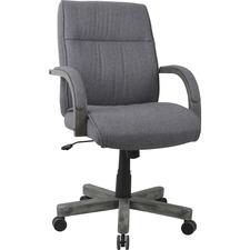 LLR 68569 Lorell Gray Fabric High-Back Executive Chair LLR68569