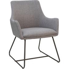 LLR 68562 Lorell Gray Flannel Guest Chair w/ Sled Base LLR68562