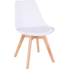 LLR 42956 Lorell Curved Plastic Shell Guest Chair LLR42956