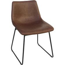 LLR 42957 Lorell Mid-century Modern Sled Guest Chair LLR42957