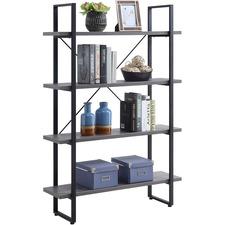 LLR 97620 Lorell SOHO 4-Shelf Metal Frame Bookcase LLR97620