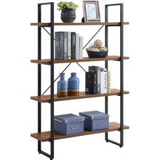 LLR 97619 Lorell SOHO 4-Shelf Metal Frame Bookcase LLR97619
